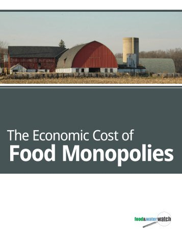 The Economic Cost of - Food & Water Watch