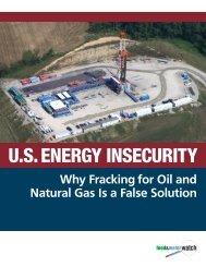 U.S. ENERGY INSECURITY - Food & Water Watch