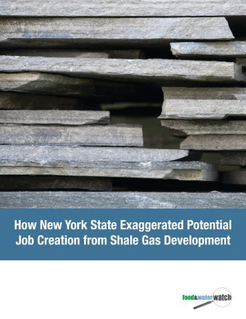 How New York State Exaggerated Potential Job Creation from Shale ...