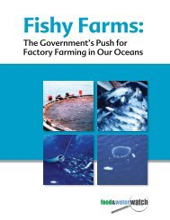 Download the PDF - Food & Water Watch