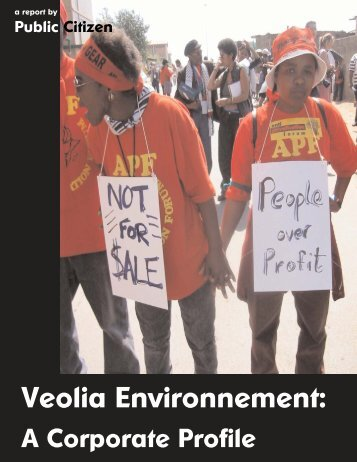 Veolia Environnement: - Public Citizen