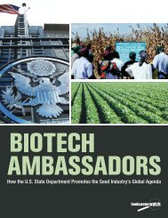 How the U.S. State Department Promotes the Seed Industry's Global ...