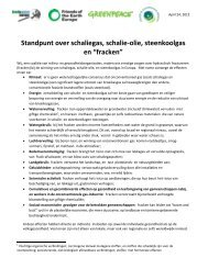 Position statement on shale gas, shale oil, coal bed methane and ...
