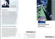 Wasserkraftwerk Partenstein - Energie AG Oberösterreich