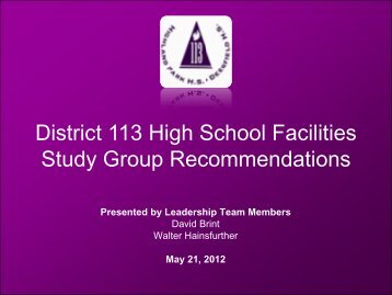 to view a complete list. - Township High School District 113