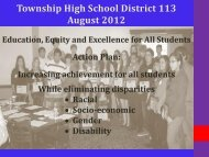 District 113 Equity Plan FY 13 - Township High School District 113