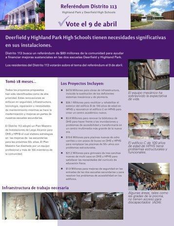 Vote el 9 de abril - Township High School District 113