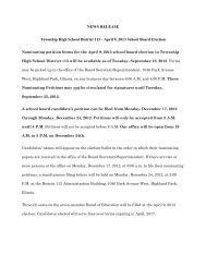 Board Election News Release 09-12 - Township High School District ...