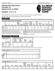 Highland Park High School 2011 Report Card - Township High ...