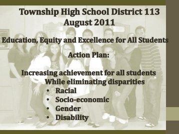 Equity Strategic Plan 2011-2012 - Township High School District 113