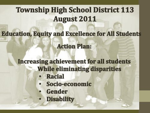 Equity Strategic Plan 2011-2012 - Township High School District 113