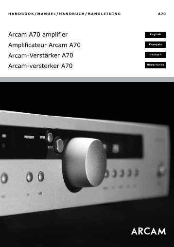 Arcam A70 amplifier Amplificateur Arcam A70 Arcam ... - MR Hifi