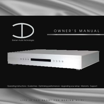 Owners manual 2005.qxp - MR Hifi