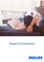 Stages & Eindwerken - Philips