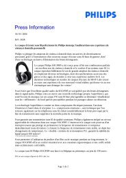Press Information - Philips