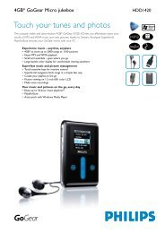 Touch your tunes and photos - Philips