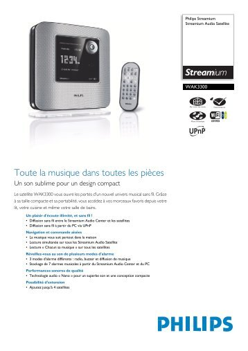 Leaflet WAK3300_12 Released Switzerland (French) High ... - Philips