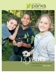 15th Anniversary Magazine 2011 - Pittsburgh Parks Conservancy