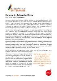 Community Enterprise Derby - Stepping Up To Enterprise
