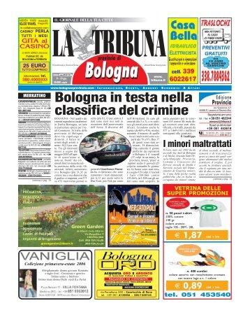 Bologna in testa nella classifica del crimine - La Tribuna