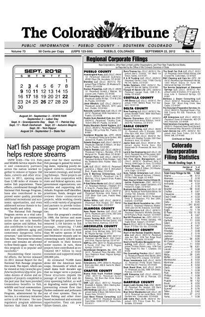 Pueblo The Colorado Tribune
