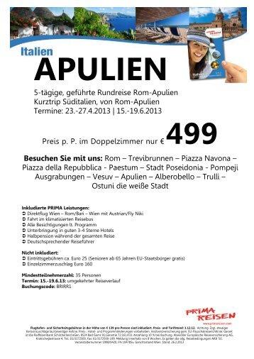 5-tägige, geführte Rundreise Rom-Apulien Kurztrip Süditalien, von ...