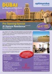 Pre Opening-Special Al Hamra Residence*****
