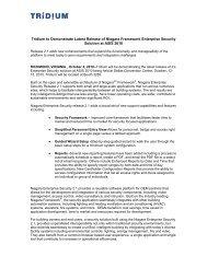 (Unveil) Latest Release of Niagara Framework Enterprise ... - Tridium
