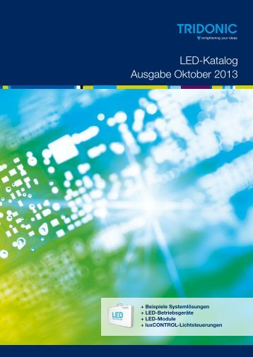 LED-Katalog Ausgabe Oktober 2013 - Tridonic