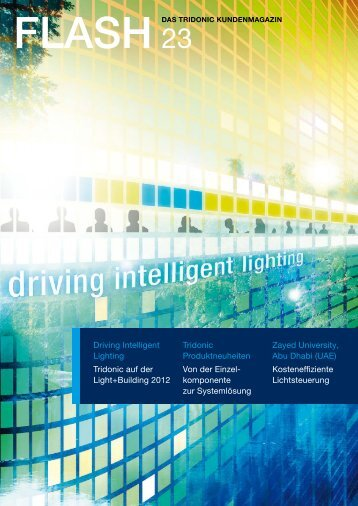 Driving Intelligent Lighting Tridonic auf der Light+Building 2012 ...