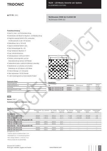 TALEXXmodule STARK QLE CLASSIC EM - Tridonic