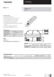 Elektronische Vorschaltgeräte für Leuchtstofflampen ... - Tridonic