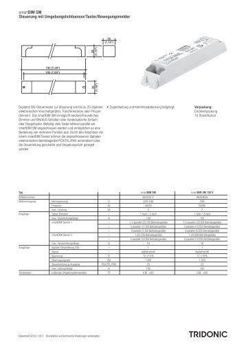 smartDIM SM Steuerung mit Umgebungslichtsensor ... - Tridonic