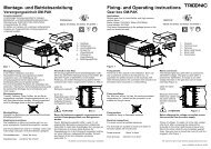 Fixing- and Operating instructions Montage- und ... - Tridonic