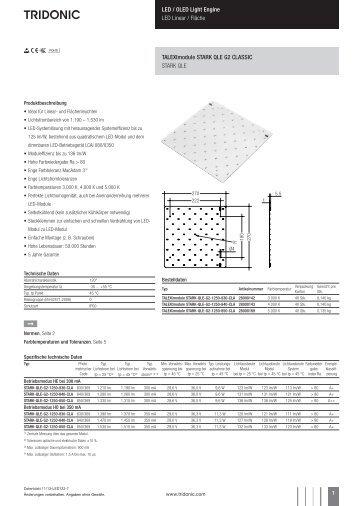 TALEXXmodule STARK QLE G2 CLASSIC - Tridonic