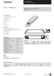 LED-Betriebsgeräte Linear / Fläche Fixed-Output ... - Tridonic