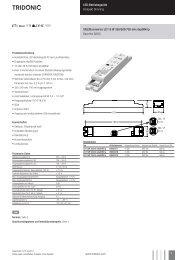 LED-Betriebsgeräte Kompakt Dimming Uconverter LCI 15 ... - Tridonic