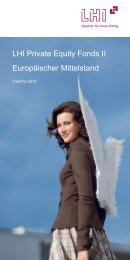 LHI Private Equity Fonds II Europäischer Mittelstand - Triebe ...