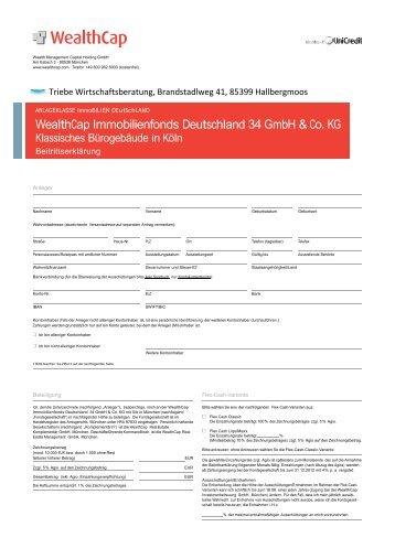 WealthCap Immobilienfonds Deutschland 34 GmbH & Co. KG