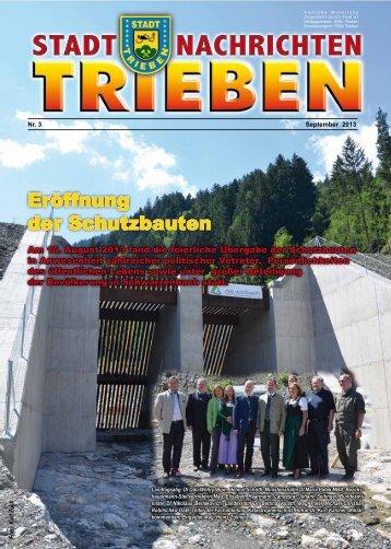 Eröffnung der Schutzbauten - Stadtgemeinde Trieben