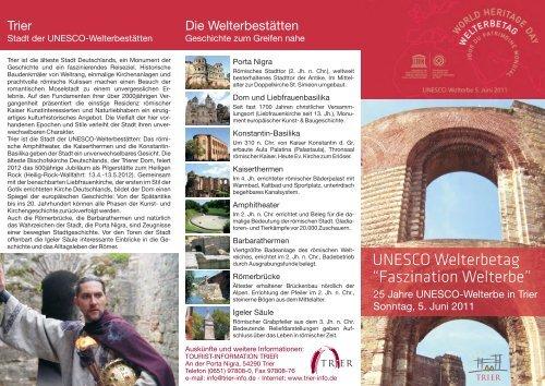 Flyer Welterbetag 2011 a - Tourist-Information Trier