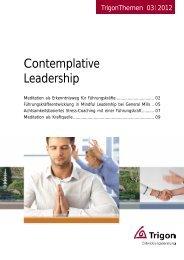 Contemplative Leadership - Trigon Entwicklungsberatung