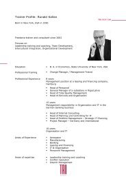 Trainer Profile: Ronald Kallan