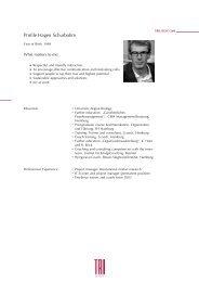 Profile Hagen Schurbohm - trilogie