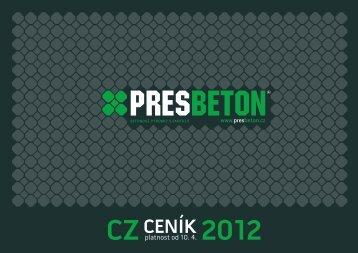 Základní ceník Presbeton 2012 - TRIMOT