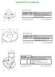 základní ceník zábradlí JAP - TRIMOT