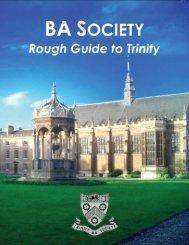 BA SOCIETY - Trinity College - University of Cambridge