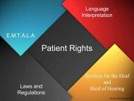 Patient Rights - Trinitas Hospital