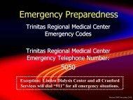 Emergency Codes - Trinitas Hospital