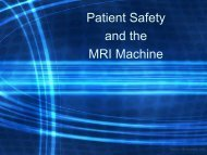 Patient Safety and the MRI Machine - Trinitas Hospital